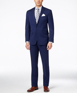 Kenneth Cole Reaction - Bright Blue Sharkskin Slim-Fit Suit