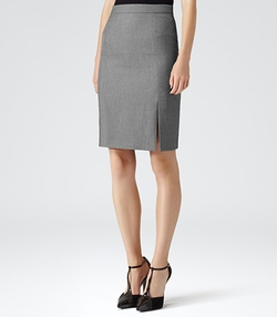Indira - Textured Pencil Skirt