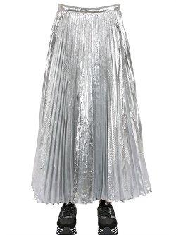 DKNY - Plisse Laminated Techno Skirt