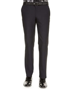 Versace Collection   - Scuba Flat-Front Trousers