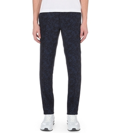 Slowear - Slim-Fit Tapered Floral-Jacquard Linen-Blend Trousers