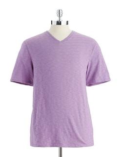 Black Brown 1826  - Heathered V-Neck T-Shirt