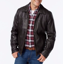 Tommy Hilfiger - Faux-Leather Open-Bottom Jacket