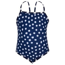Oscar De La Renta  - Navy Polka Dot Swimsuit