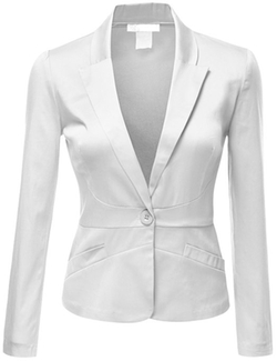Doublju - Tailored Boyfriend Cropped Blazer