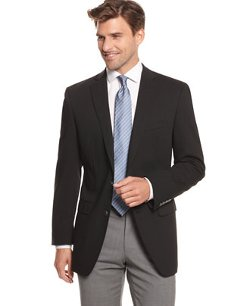 Calvin Klein - 2 Metal Button Stretch Wool Blazer