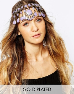 Asos - Purple Jade Gemstone Headdress