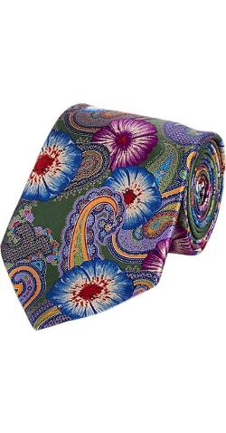 Ermenegildo Zegna - Hand-Printed Floral & Paisley Tie