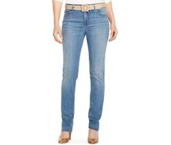 Lauren Jeans Co.  - Super-Stretch Heritage Straight-Leg Jeans
