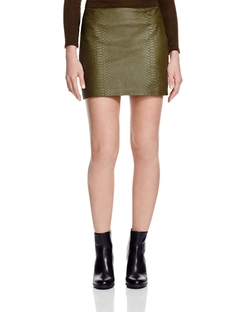 Alice + Olivia - Neville Leather Mini Skirt