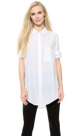 Donna Karan New York  - Open Back Boyfriend Shirt