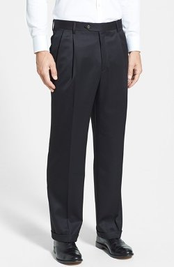Berle  - Pleated Wool Gabardine Trousers