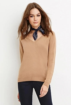 Forever 21 - Classic V-Neck Sweater