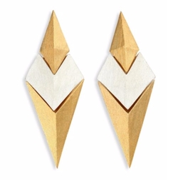 Stephanie Kantis - Battle Two-Tone Earrings