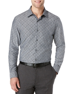 Perry Ellis  - Diamond Print Sportshirt