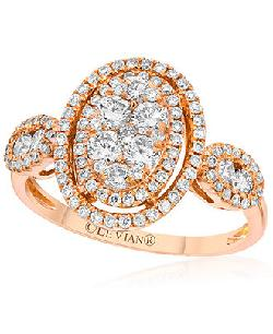 Le Vian  - Diamond Oval Ring (9/10 ct. t.w.) in 14k Rose Gold