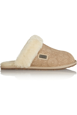 Australia Luxe Collective  - Shearling Trimmed Suede Slippers