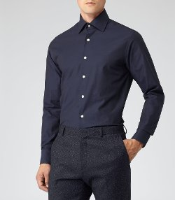 Geneva  - Contrast Button Shirt