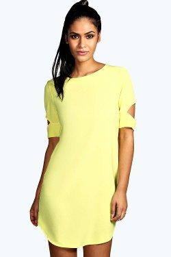 Boohoo - Cattia Cut Out Sleeve Shift Dress