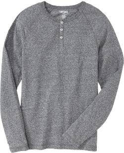 Old Navy - VINTAGE Heather Grey Henley