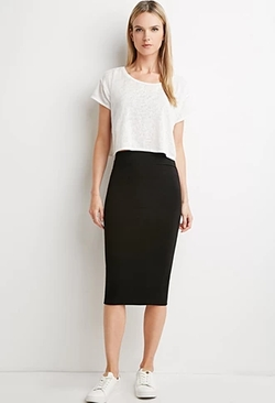 Forever21 - Classic Midi Pencil Skirt