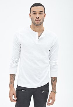 Forever21 - Paneled Thermal Henley