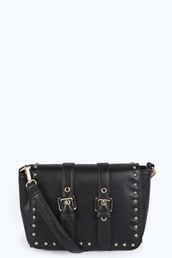 MG Collection  - Xia Studded Small Satchel Handbag