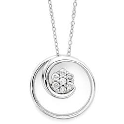 Diamond Blossom -  Diamond Swirl Pendant Necklace