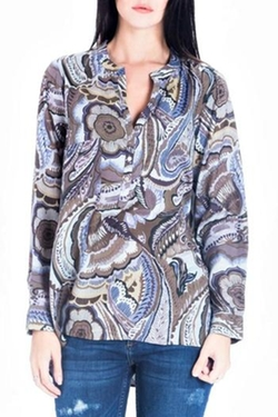 Vivante - Grey Paisley Blouse