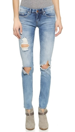 Blank Denim - Distressed Skinny Jeans