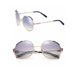 Chloé  - Eria Metal Round Sunglasses