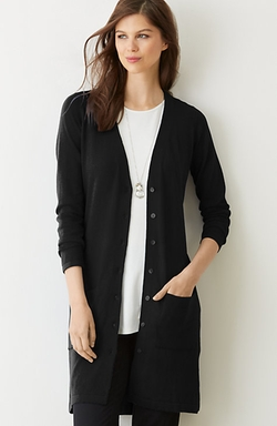 J.Jill - Long V-Neck Cardigan