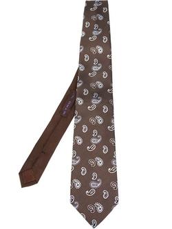 Etro - Embroidered Paisley Tie