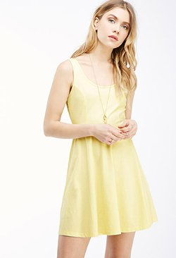 Forever21 - Lace-Paneled Fit & Flare Dress