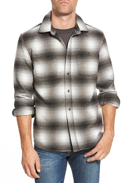 Surfside Supply Co.  - Long Sleeve Plaid Flannel Sport Shirt