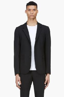 MCQ ALEXANDER MCQUEEN - BLACK CLASSIC SINGLE BREAST BLAZER