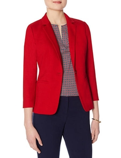 The Limited - Textured One Button Blazer