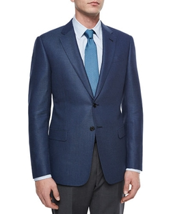 Armani Collezioni - G-Line Birdseye Two-Button Jacket