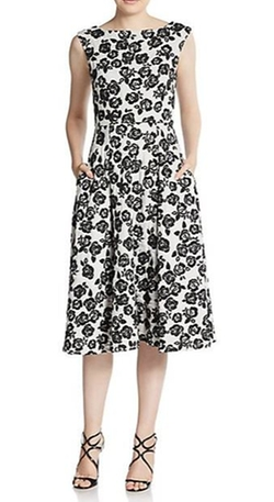 Betsey Johnson  - Floral Print Tea Length Dress