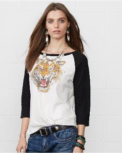 Ralph Lauren - Tiger-head Baseball Tee