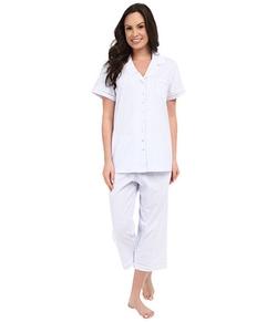 Eileen West  - Group Notch Collar Capris Pajamas