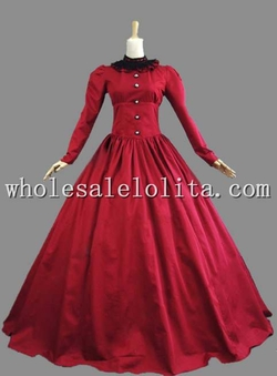 Wholesalelolita - Cotton Gothic Victorian Dress