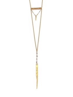 Chan Luu  - Labradorite Dagger Pendant Necklace