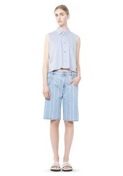 Alexander Wang - Cotton Poplin Cropped Shirt