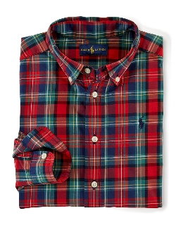 Ralph Lauren - Boys Plaid Cotton Poplin Shirt