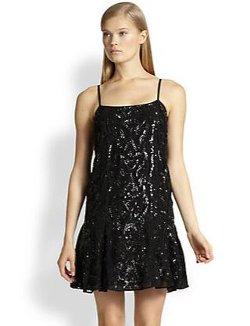 Needle & Thread  - Beaded & Sequined Flared-hem Dress