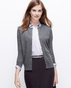 Ann Taylor - Cashmere Crew Neck Cardigan