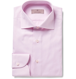 Canali - Pink Cotton-Twill Shirt