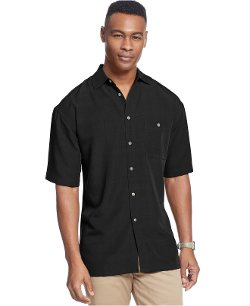 Campia Moda  - Short Sleeve Solid Texture Shirt