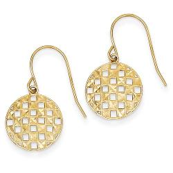 Gem Affair - Round Earrings Shepherd Hook  Polished Finish  Striking